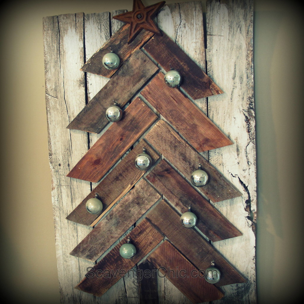 Pallet Wood Christmas Tree diy