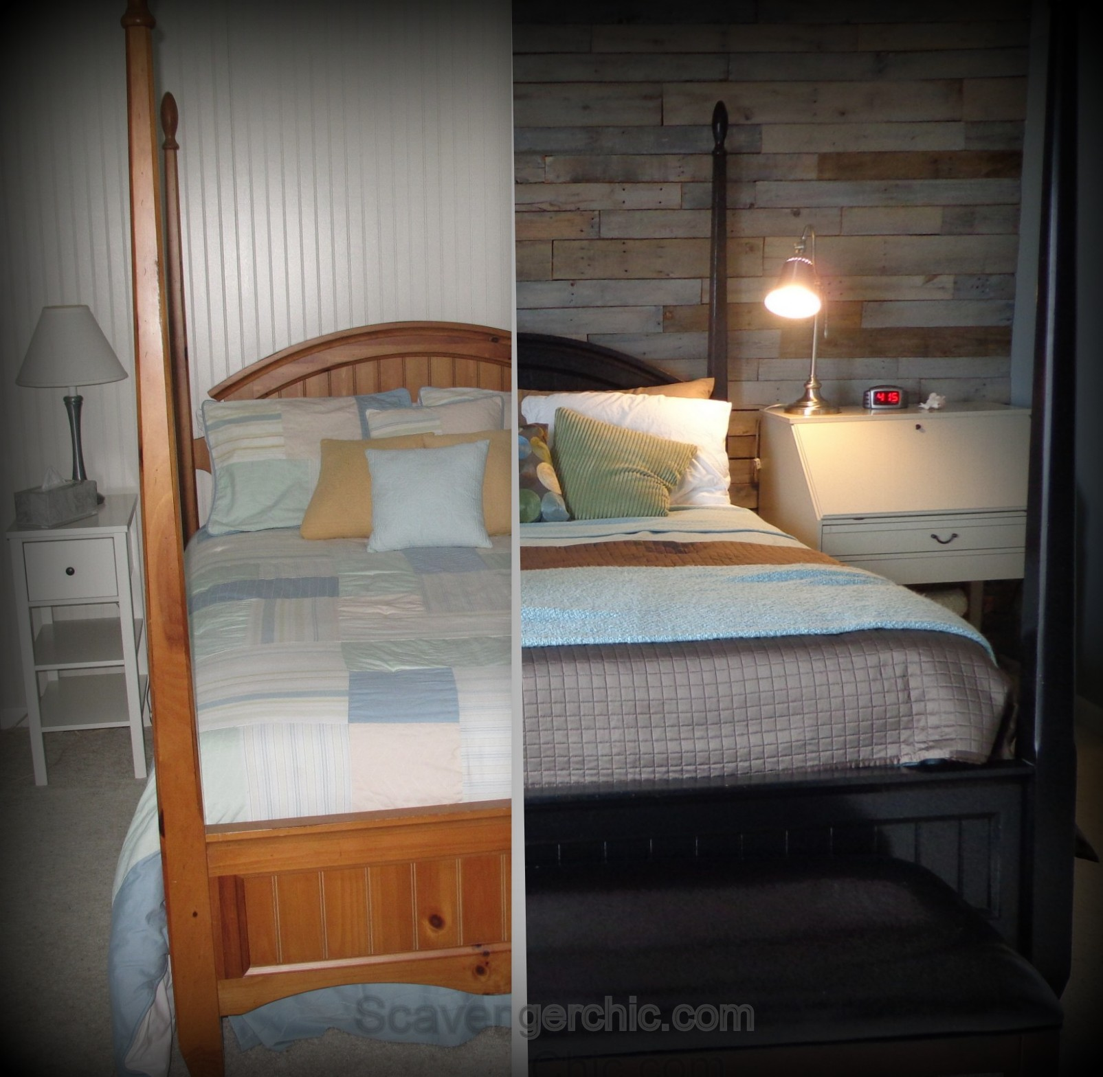Warm And Rustic Pallet Wood Wall Scavenger Chic