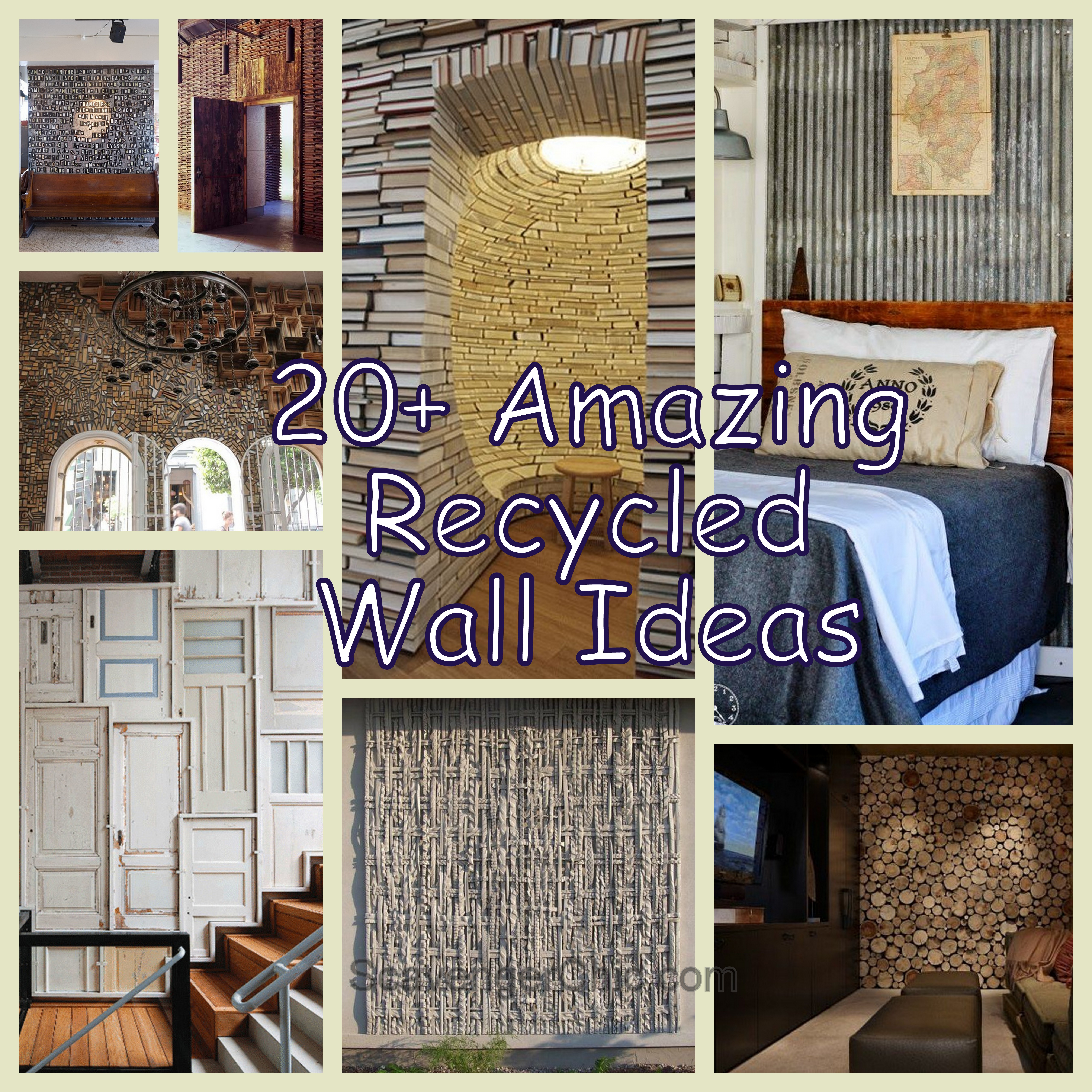 20 Recycling Ideas For Home Decor: 20+ Amazing Recycled Wall Ideas
