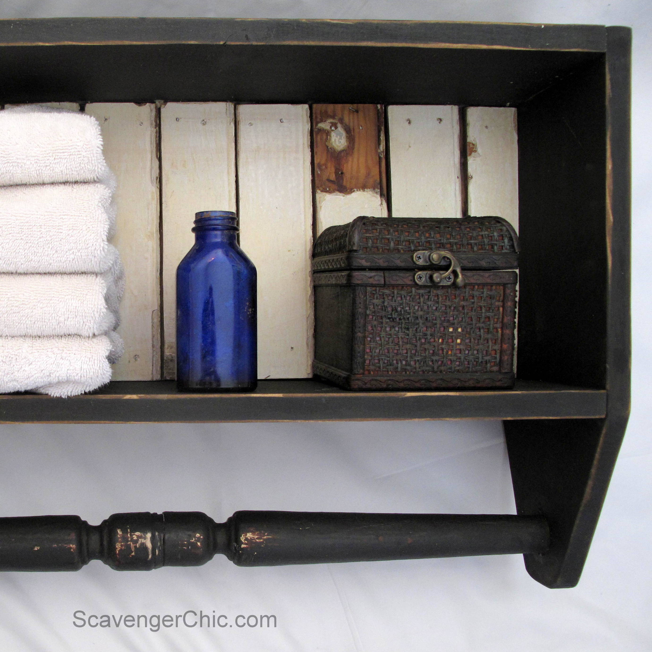 Build an Easy Bathroom Shelf - Scavenger Chic
