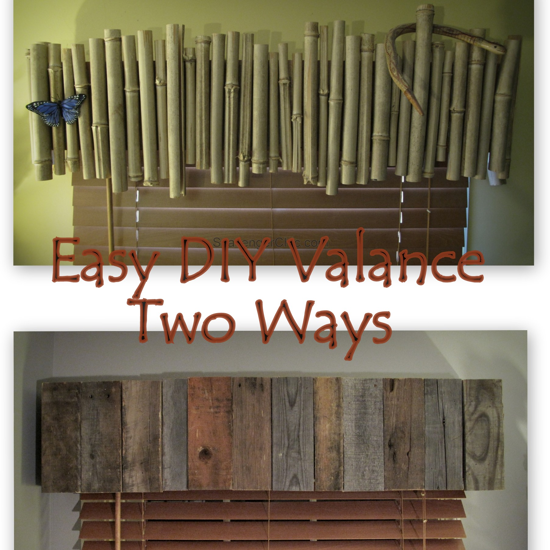 Diy Wood Valance Bamboo Or Pallet Wood Valance Easy Diy Scavenger Chic