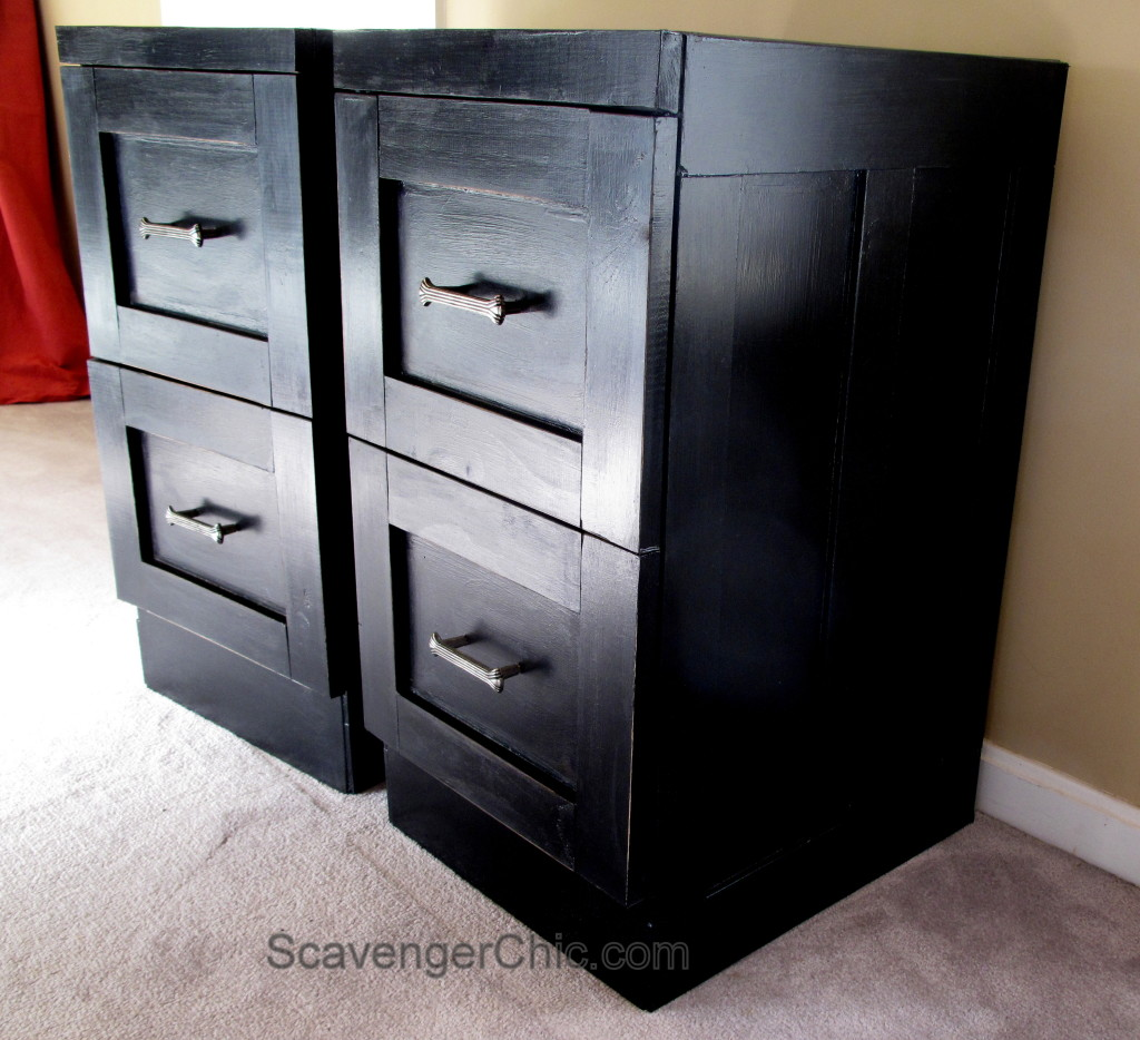 Metal file cabinets get a makeover