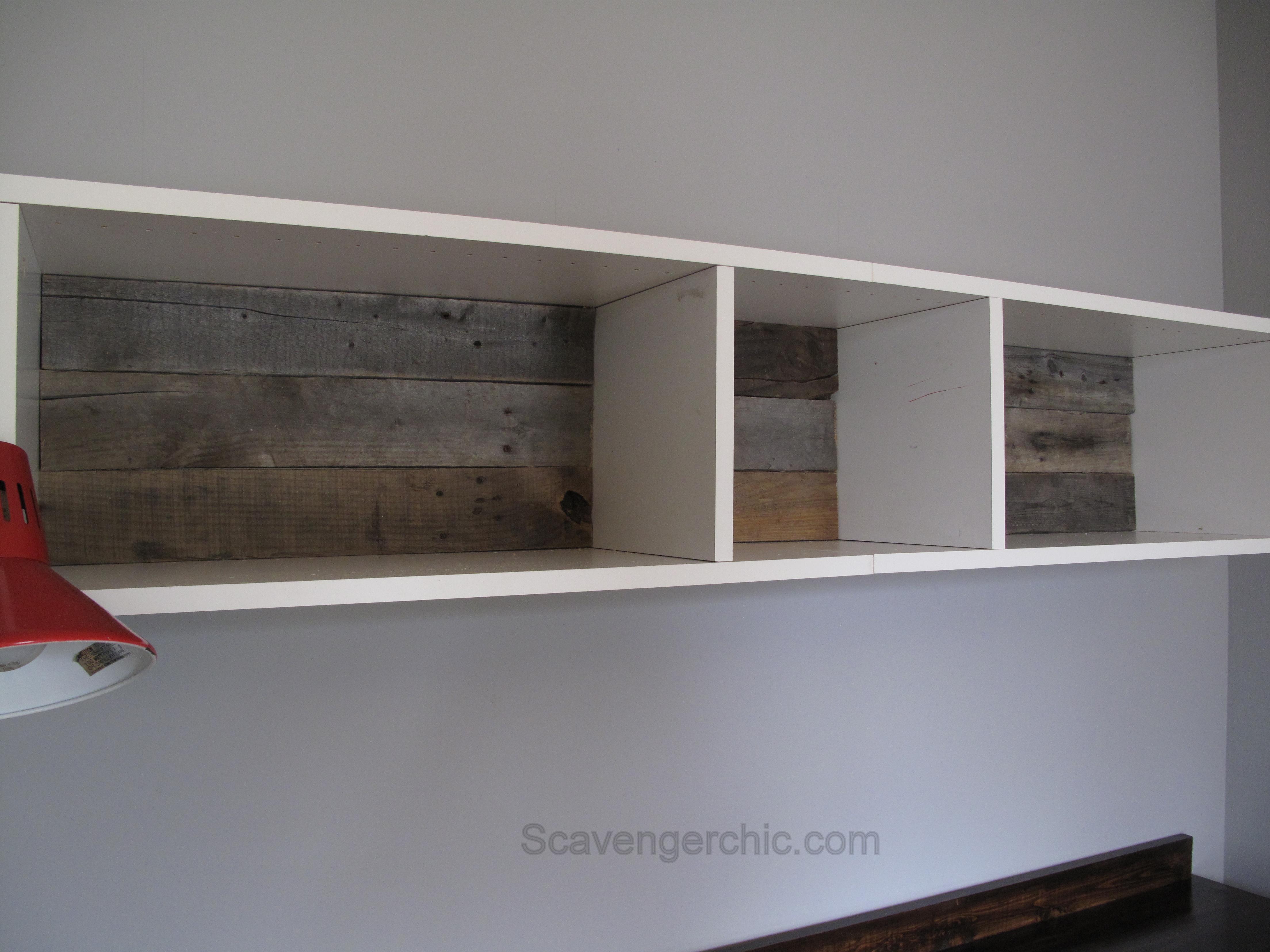 Teenage Boys Bedroom Over The Desk Shelves Ikea Pallet Wood Backing For Scavenger Chic