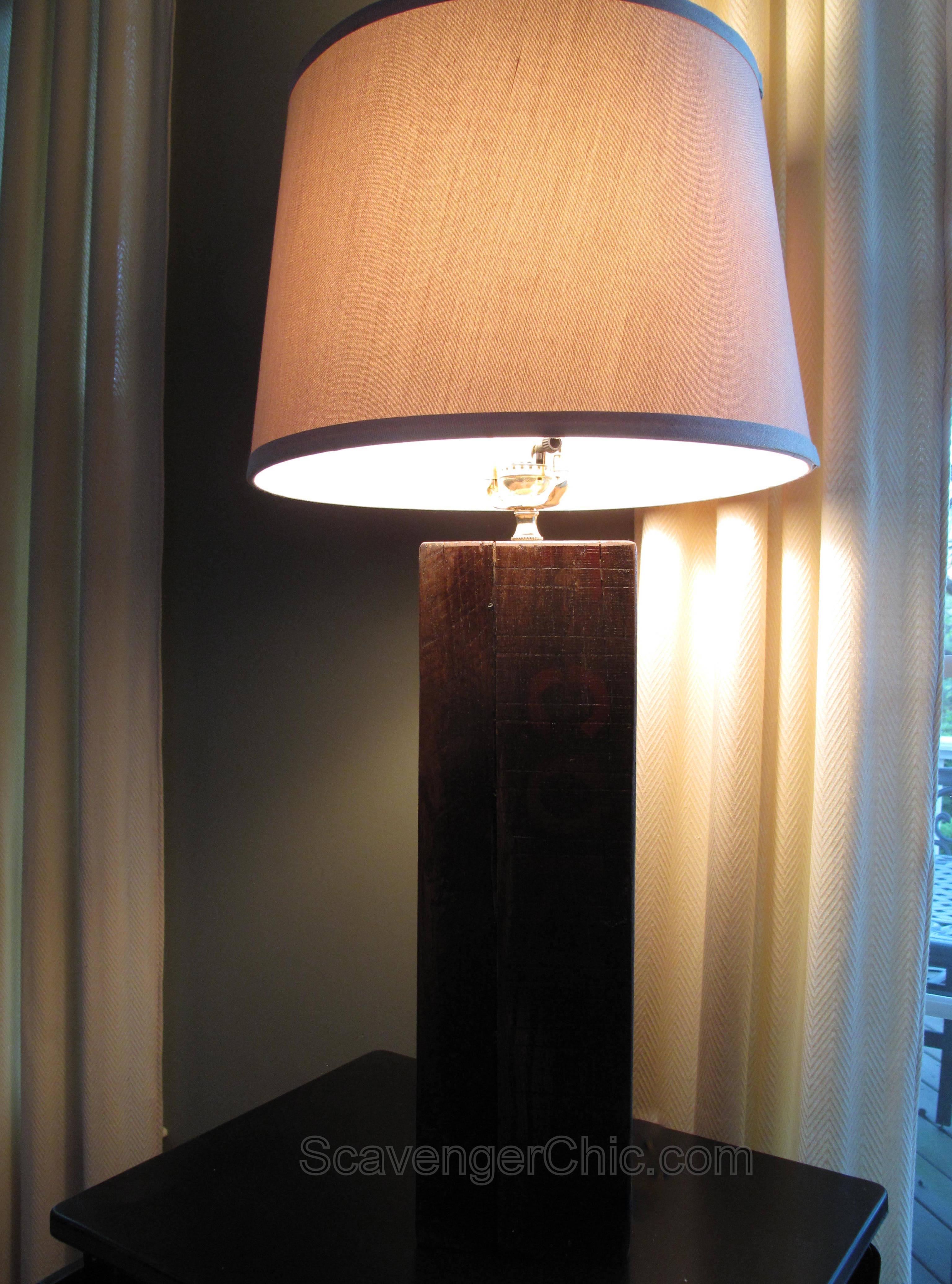 Rustic Pallet Wood Lamp Scavenger Chic