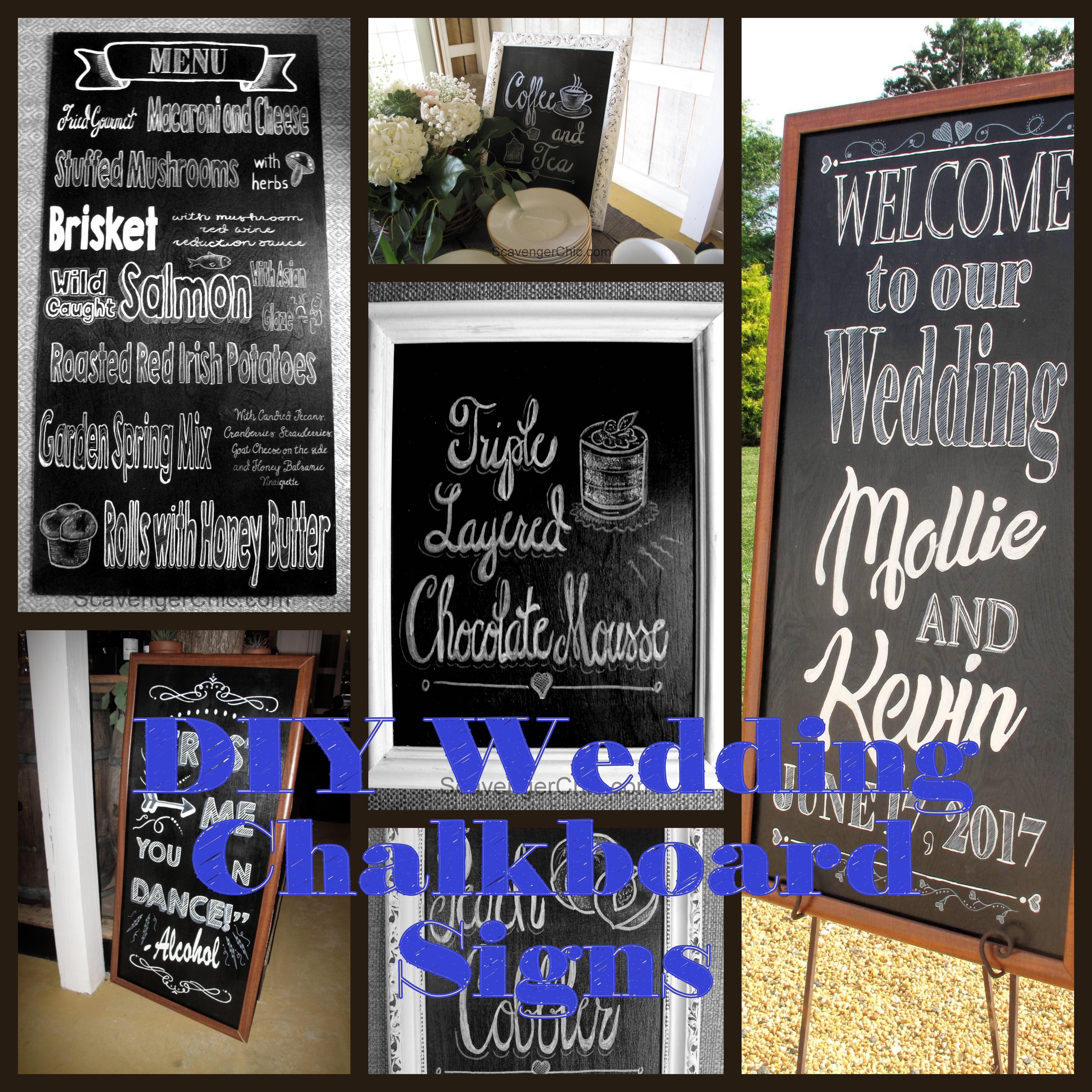Wedding Chalkboard Ideas: Easy DIY Chalkboard Signs