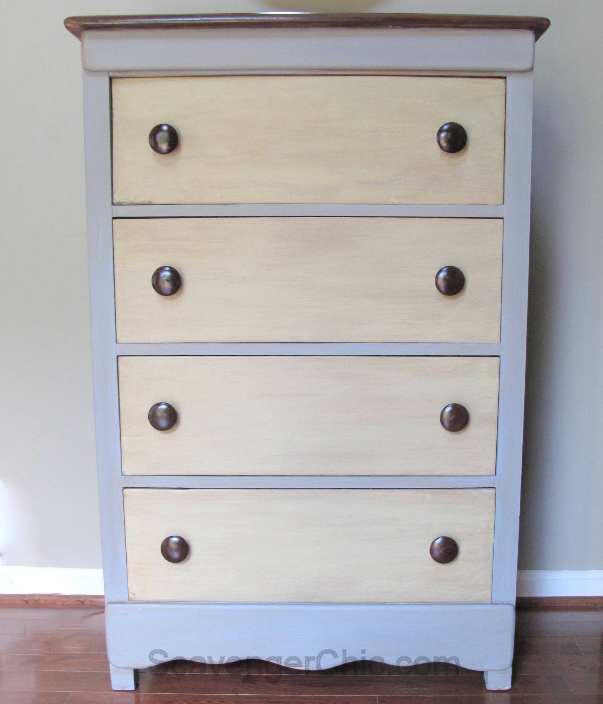 Tool Chest Dresser Makeover: Curbside Rescue, Chest Of Drawers, Dresser Chalk Paint