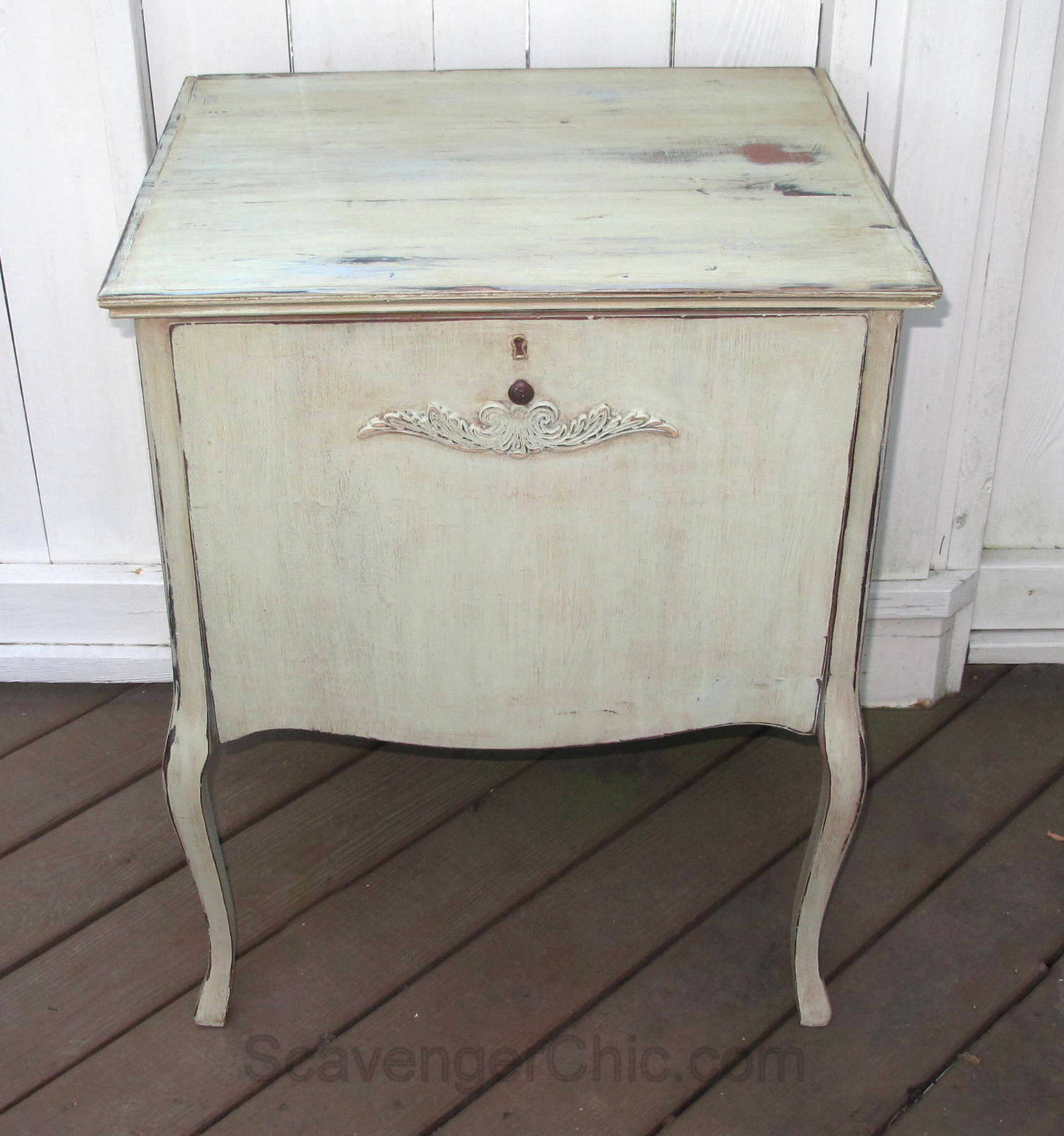 Saved from the Dump, Vintage Record Cabinet - Scavenger Chic