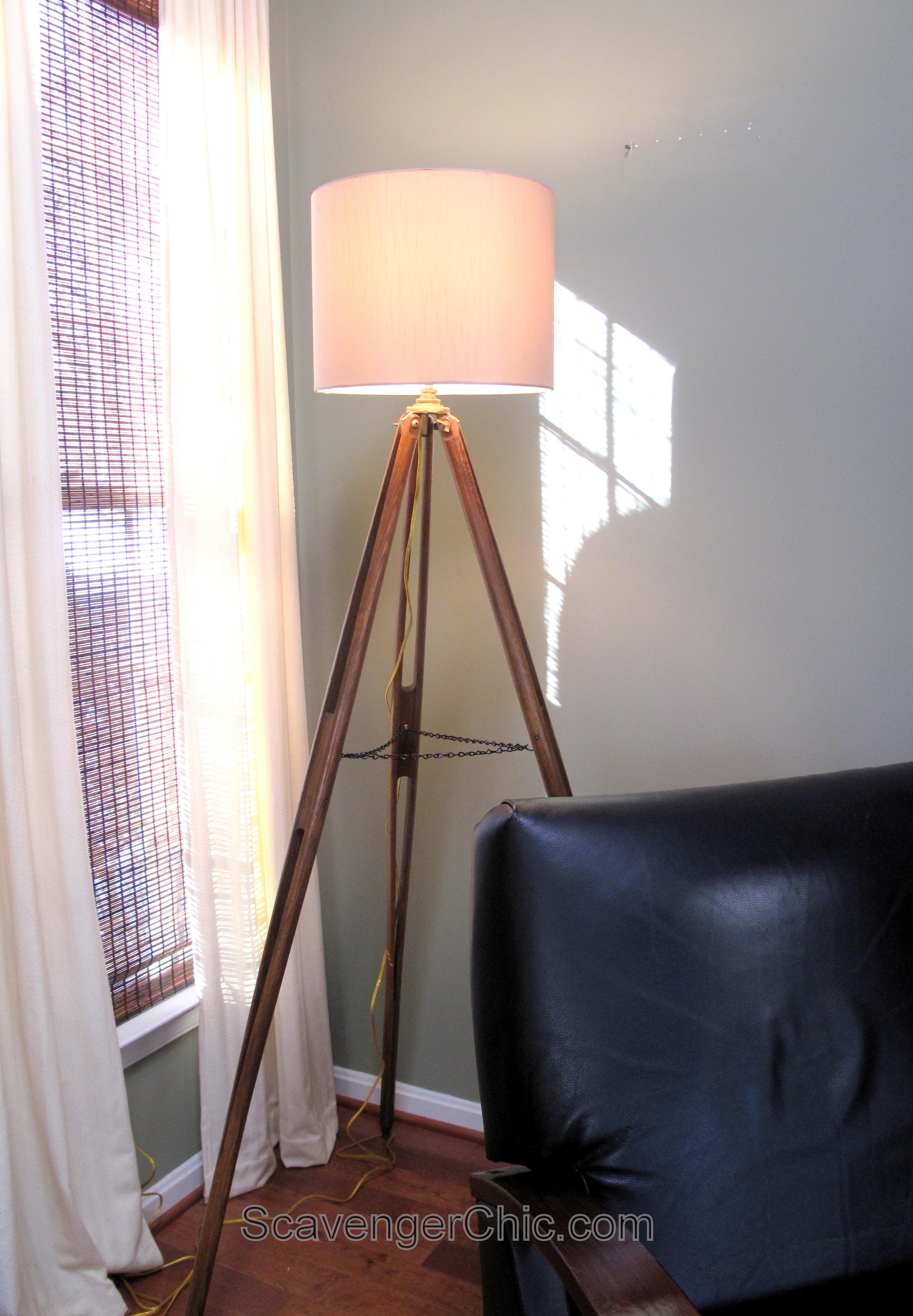 Wood Surveyor S Tripod Floor Lamp