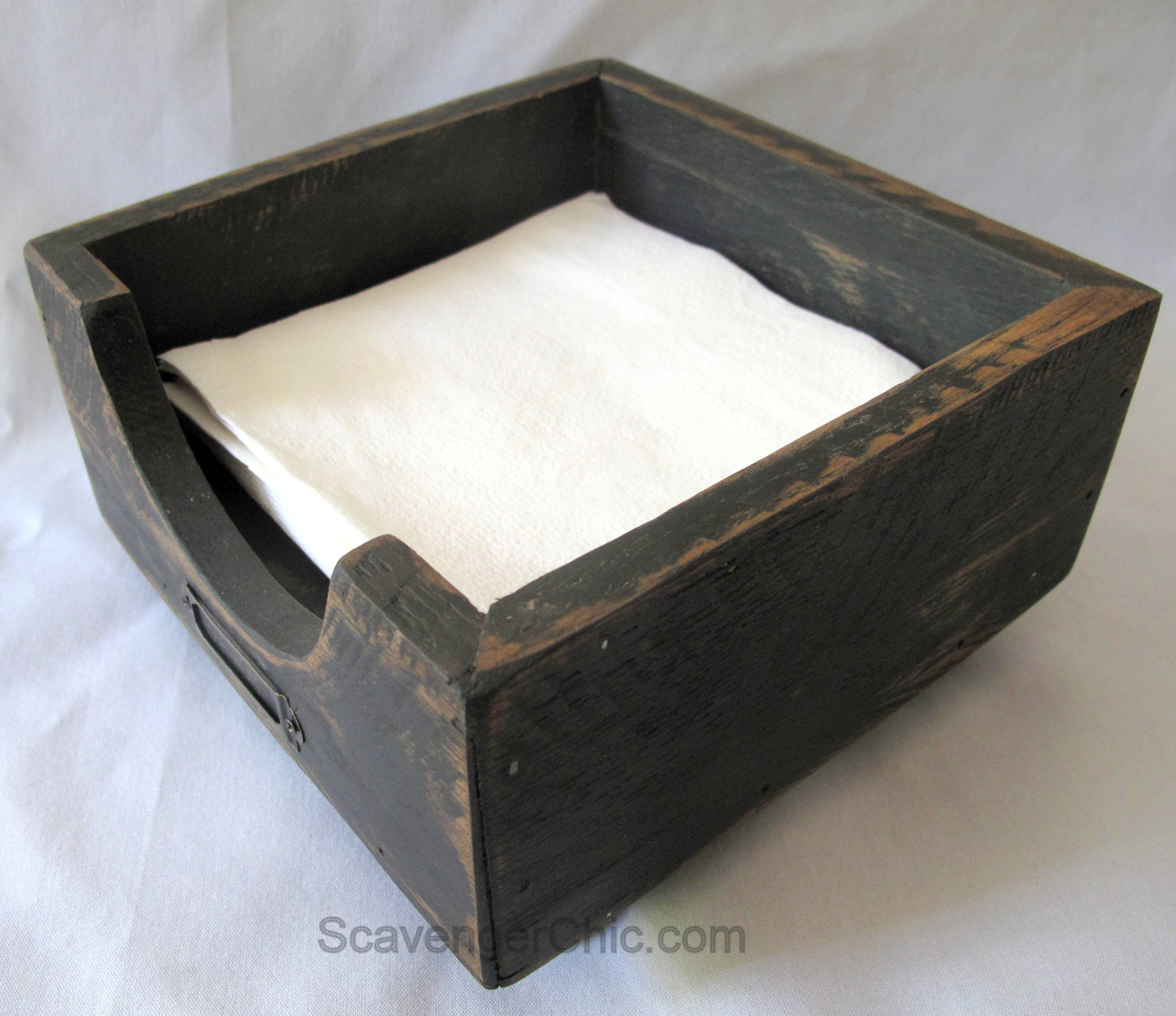 Easy Pallet Wood Napkin Holder Scavenger Chic