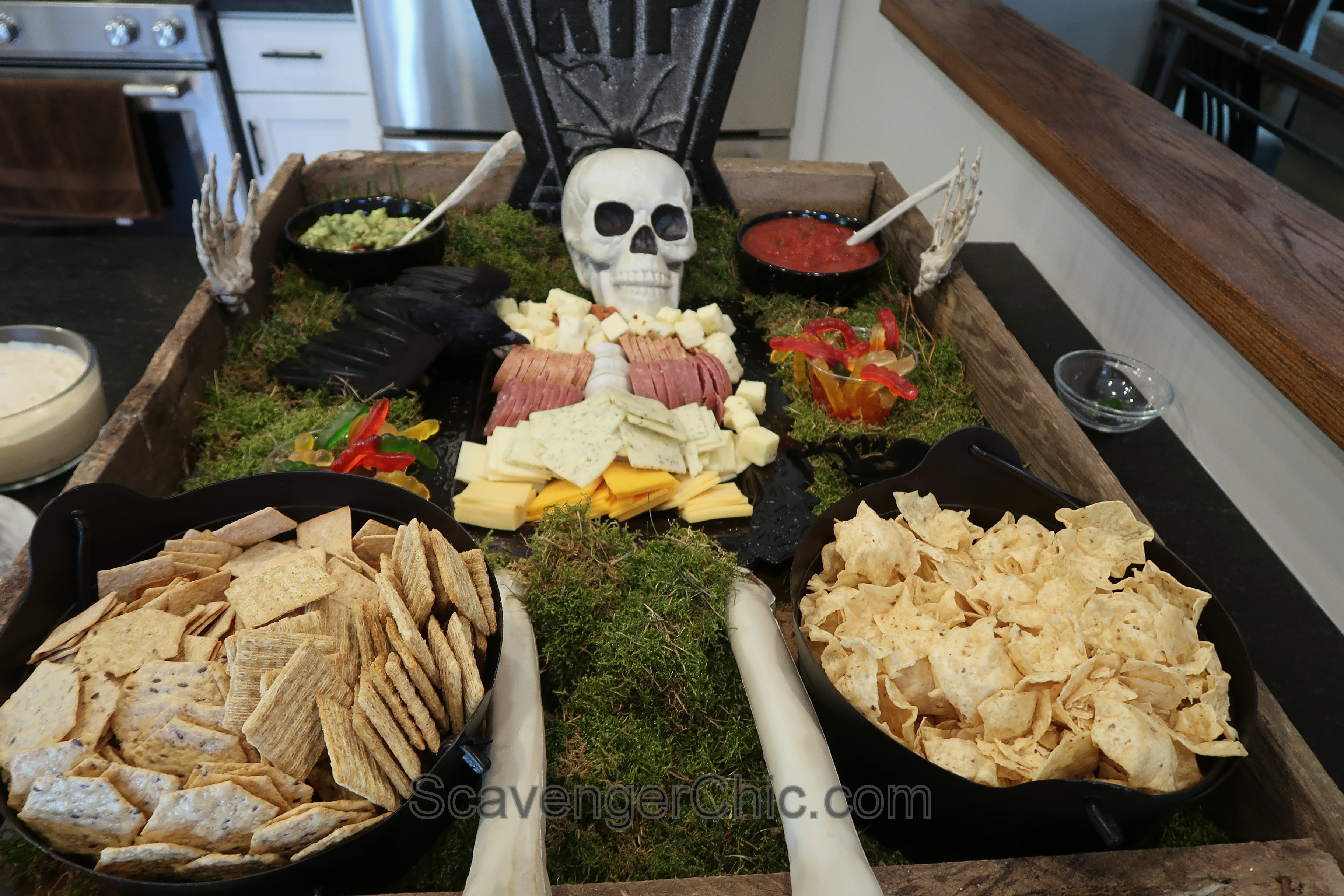 Halloween Cheese And Meat Platter Scavenger Chic