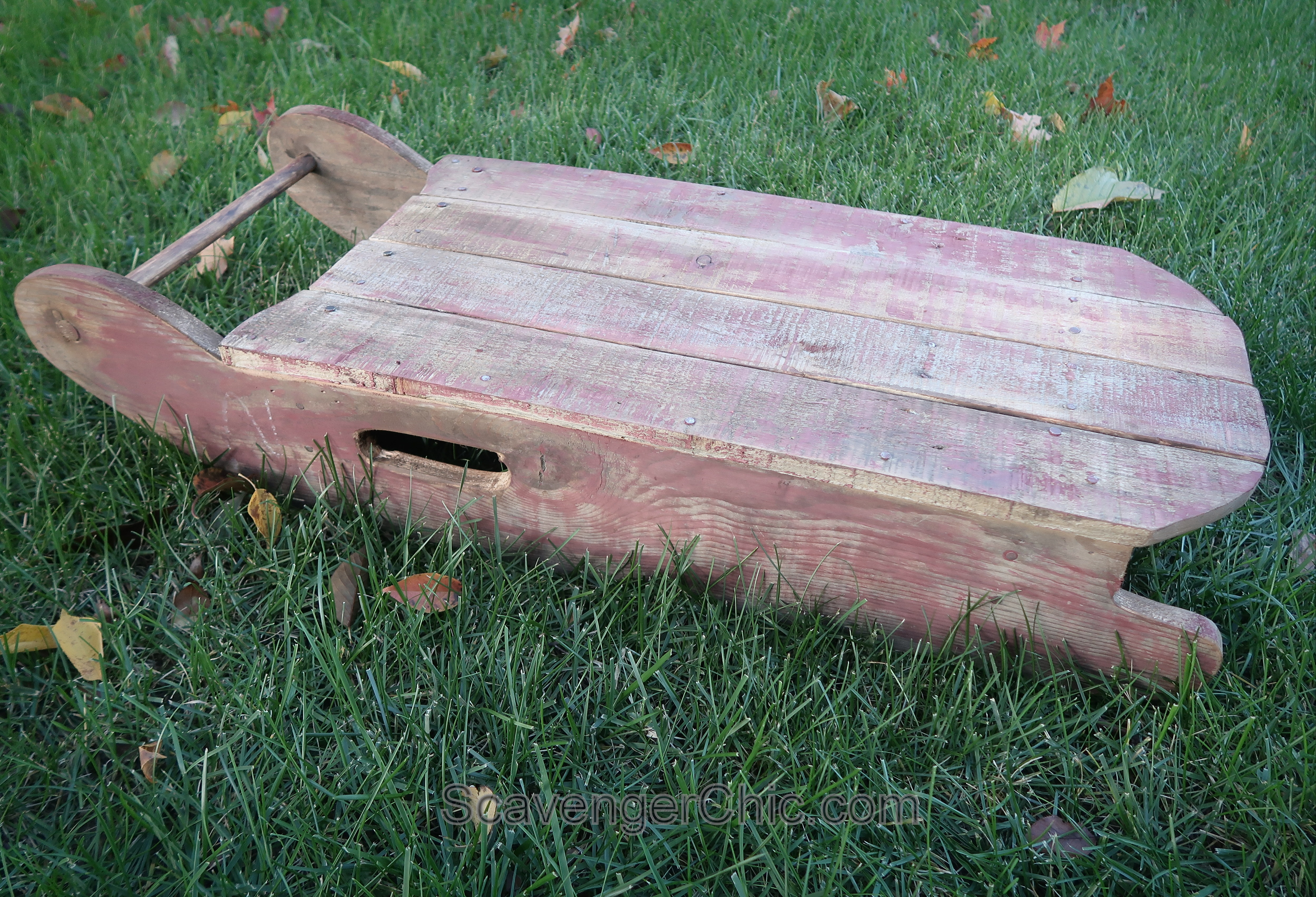 Make Your Own Wooden Vintage Sled Scavenger Chic