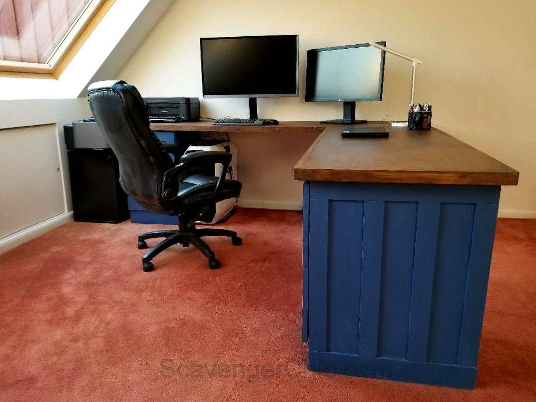 File Cabinet L Shaped Desk Scavenger Chic