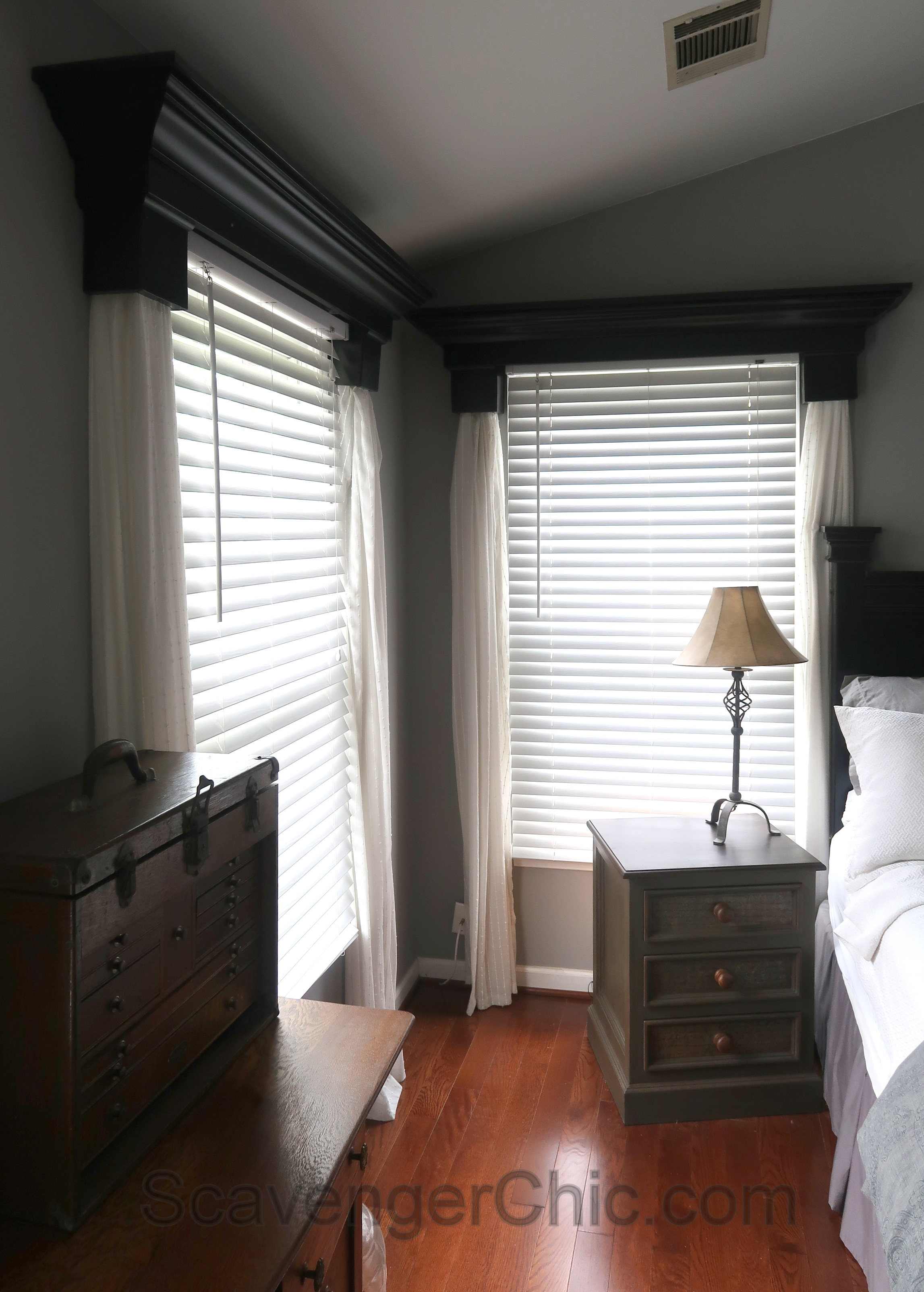 Diy Window Cornice With No Sew Curtains Scavenger Chic